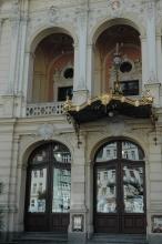 Karlovy Vary, divadlo Vítězslava Nezvala (původní stavba Fellner a Helmer)